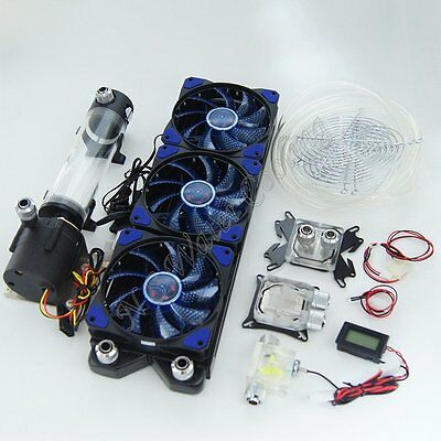 PC Liquid Cooling 360 Radiator Kit Pump Tank 220mm Reservoir CPU GPU HeatSink