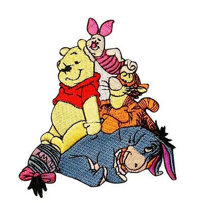 Winnie the Pooh & Friends Patch Tigger, Piglet, Eeyore Disney Iron-On Applique