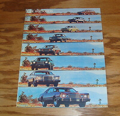 Original 1976 Ford Full Line Foldout Sales Brochure 76 Mustang Thunderbird