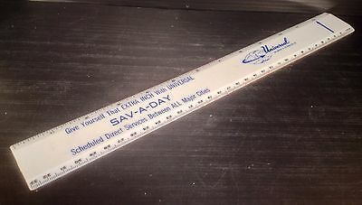 Vintage Universal Carloading & Dist. Co. SAV-A-DAY Plastic Ruler - Very Nice!