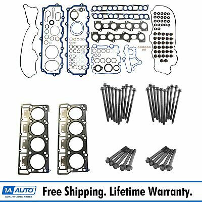 Fel-Pro Upper Engine Gasket Set Head Gaskets & Bolts for 06-10 Ford 6.0L Diesel