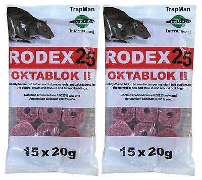 RAT killer poison 30 BAIT BLOCKS PROFESSIONAL RODENT killer by TrapMan UK