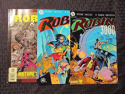 1992 LOT of 3 ROBIN 3000 Book 1-2 NM Nature's Bride VF+ P Craig Russell