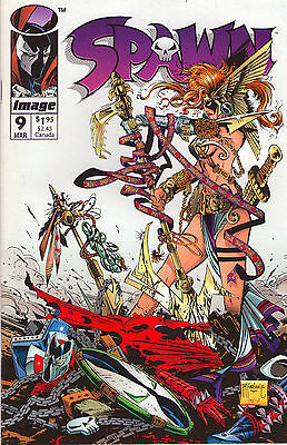 Spawn #9 - Lot Of 4 1st App Angela (Thor's Sister) 1994 (Grade 9.2) WH
