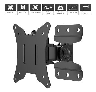 Slim Swivel Tilt Wall Mount TV Bracket for 26-55 inch LCD LED 3D Plasma VESA 400
