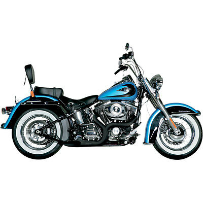 Akrapovic Black Open Line Exhaust 2-into-1 System for Harley Touring Softails