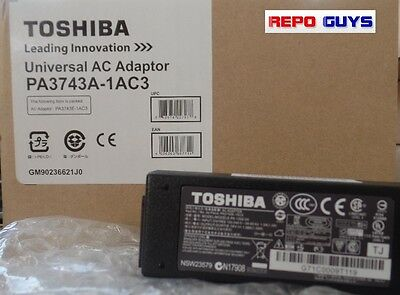 Toshiba Universal AC Adapter PA3743A-1AC3 19 VOLT 1.58 AMPS BRAND NEW