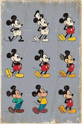 (LAMINATED) MICKEY MOUSE - EVOLUTION POSTER (91x61cm)  NEW WALL ART
