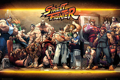 STREET FIGHTER - CHARACTERS POSTER (61x91cm)  NEW WALL ART