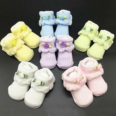 Infant Toddler  Baby Boy Girl Cotton Lace  Floral Ruffle Frilly Ankle Socks  B10