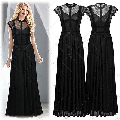 New Women's Lace Formal Cocktail Evening Party Bridesmaids Night out Maxi Dress