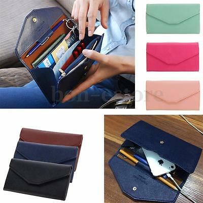 Women Clutch Long Purse Leather Wallet Card Holder Handbag Envelope Phone Bag