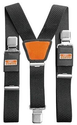 BAHCO Black Padded Adjustable Work Braces With Heavy Duty Clips