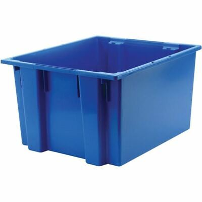 """Akro-Mils 35-230 23-1/2""""W x 19-1/2""""D x 13""""H Blue Nest/Stack/Tote Container"""