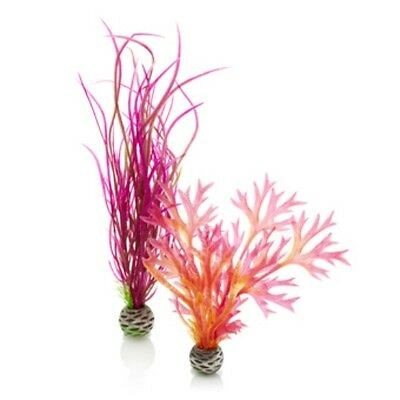 BIORB PLASTIC EASY PLANTS (2 in pack) PINK/RED MEDIUM SIZE PL04 0822728002940