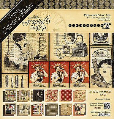 Graphic45 COMMUNIQUE Deluxe Collector's Edition scrapbooking