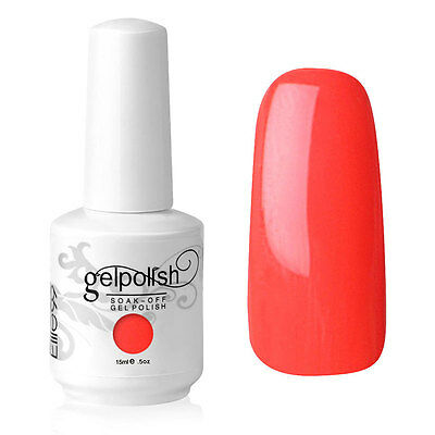 Elite99 Esmalte de Uña Gel Color Rojo Soak-off UV LED Manicura Arte 15ml