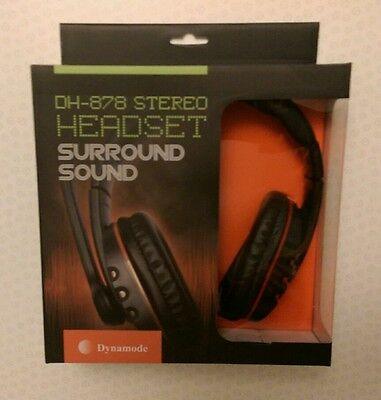 Dynamode DH-878 Gaming Headset Headphones Surround Sound Microphone/Mic Volume