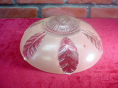 Pink Leaves Antique ART DECO CEILING LAMP SHADE Light Fixture CHANDELIER Vintage