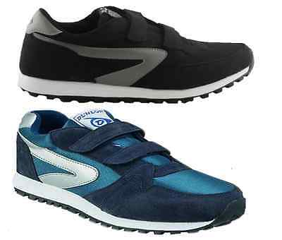 Dunlop Mens Xlc Twin Strap Black Blue Casual Sneakers Volleys Shoes Uk Size 6-13