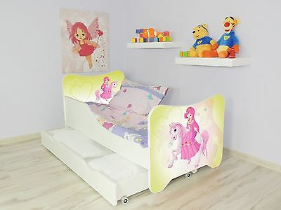 Children Bed PONY for Girls Kids bed with mattress 140x70 drawer + small pillow