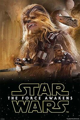 (LAMINATED) STAR WARS EPISODE 7 VII - CHEWBACCA POSTER (91x61cm)  NEW WALL ART