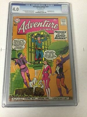 Adventure Comics 267 Cgc 4.0 Ow Pages 2nd Legion Of Super Heroes Appearance
