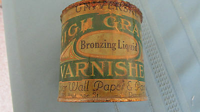Original Vintage Star Wall Paper & Paint Denver Colorado High Grade Varnish Can-