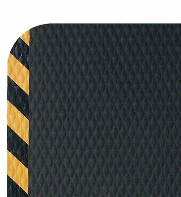 Andersen 424 Nitrile Rubber Hog Heaven Anti-Fatigue Mat with Yellow Striped 5 x