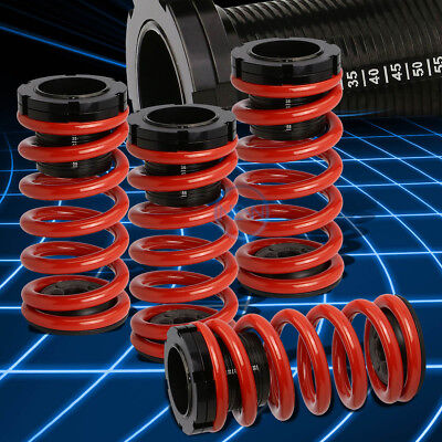 "Black Adjustable 0-3""Scaled Coilover+Red Springs for Toyota Corolla E130 03-08"