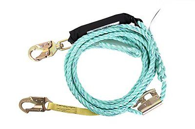 Guardian Fall Protection 01324 VLA-100 Poly Steel Vertical Lifeline Assembly,