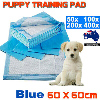 Puppy Pet Dog Diaper Cat Toilet Training Pads Indoor Super Absorbent 60x60CM AU