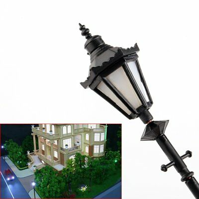 8 pcs Model Railway LED Lamppost Lamps Antique Street Lights G Scale 1:25