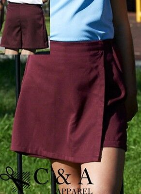 Girls School Skort with Zipped Right Side Pocket and Name Tag Label