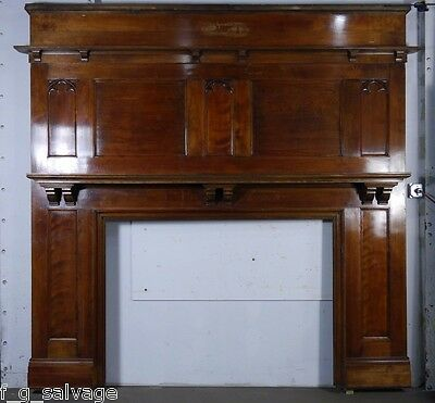 Antique Vintage Birch Fireplace Mantel Early 1900's Knox Hall Columbia U.