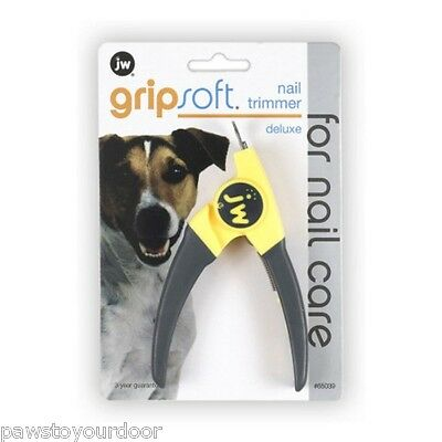 JW Dog Cat Guillotine Nail Clippers Trimmers Small Medium Dogs Gripsoft Deluxe