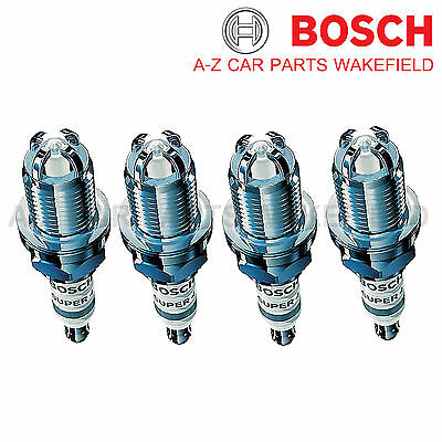 B868WR78X For VW Golf 1.4 1.6 1.8 GTI 1.8i 2.0 Bosch Super4 Spark Plugs X 4