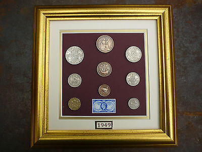 FRAMED 1949 COIN SET 67th BIRTHDAY / ANNIVERSARY GIFT IN 2016