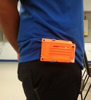 BELT CLIP Nerf dart gun custom 3d printed magazine holder accessory attachment