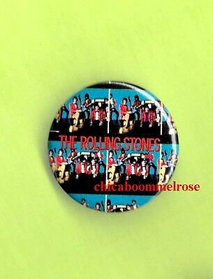 the Rolling Stones 1981 pinback button badge R mint condition