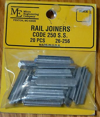 Micro Engineering, Inc. G #26256 Code 250 Rail Joiners - Slip-On Type- Stainless