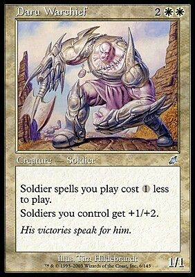 Condottiero Daru - Daru Warchief MTG MAGIC SCG Scourge Eng/Ita