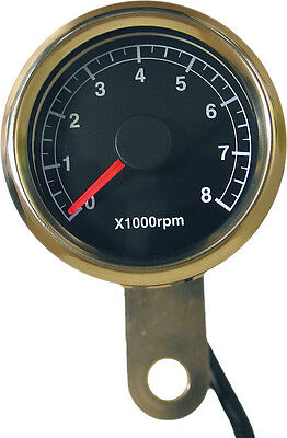 Harddrive 48Mm Mini Tachometer 8000 Rpm Black Face