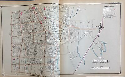 1914 Atlas Map Freeport Nassau County Long Island New York Atlas Map