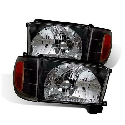 Cg Headlights For 1996 1998 Toyota 4runner Black Clear Pair
