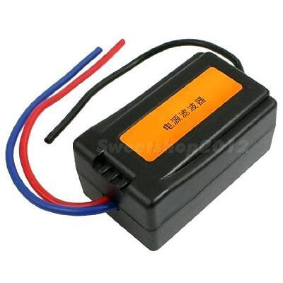 1Pcs DC 12V Power Supply Pre-wired Black Plastic Audio Power Filter for Car SWTG