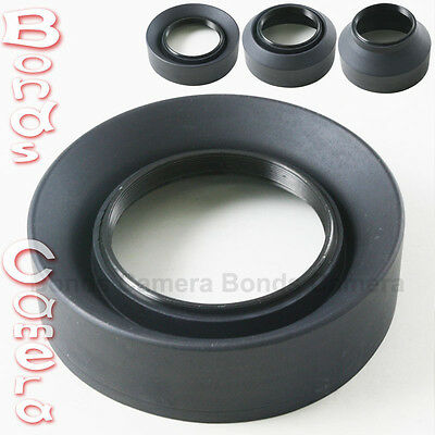 52mm 52 mm 3-Stage Rubber Screw Lens hood for Canon Nikon Sigma Sony camera lens