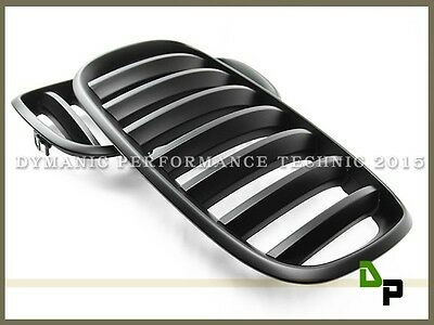 Matte Black Front Kidney Grill Grille For BMW E70 E71 Model X5 X6 SUV 2007-2013