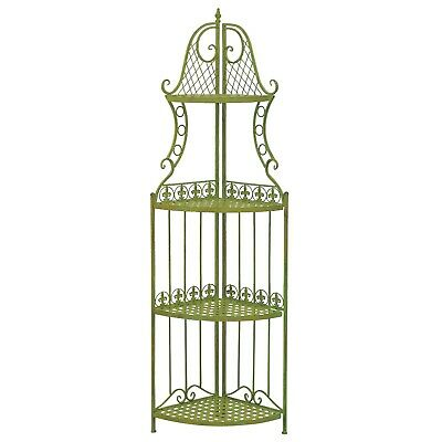 Shelf rack garden green 165cm antique style wrought iron
