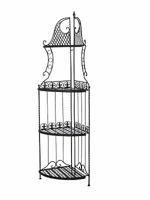 Shelf rack garden brown 165cm antique style wrought iron